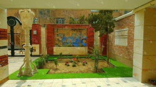 پروژه نصب چمن مصنوعی حیاط