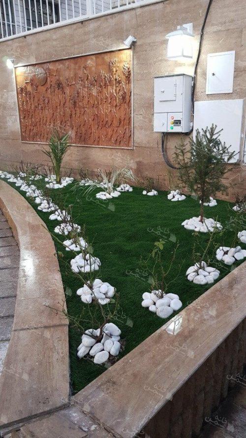 چمن مصنوعی حیاط