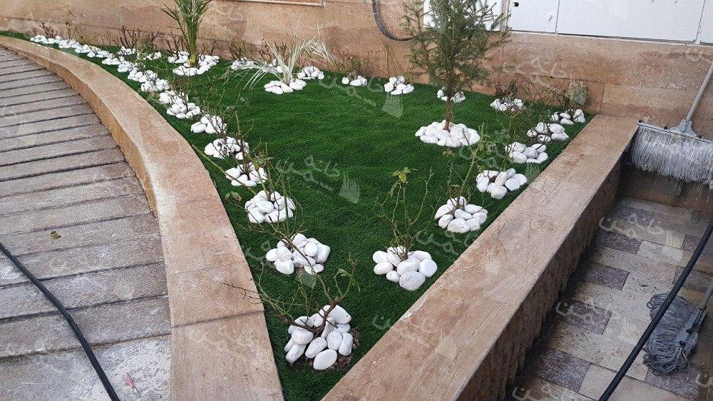 پروژه چمن مصنوعی حیاط در یوسف آباد