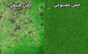 مقایسه چمن مصنوعی و چمن طبیعی